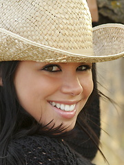 Meanwhile back at the ranch there's an adorable little cowgirl named Destiny getting naked